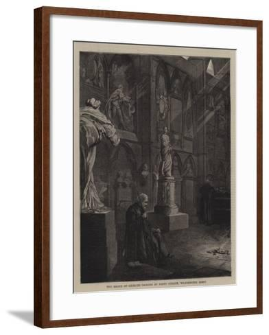 The Grave of Charles Dickens at Poets' Corner, Westminster Abbey--Framed Art Print