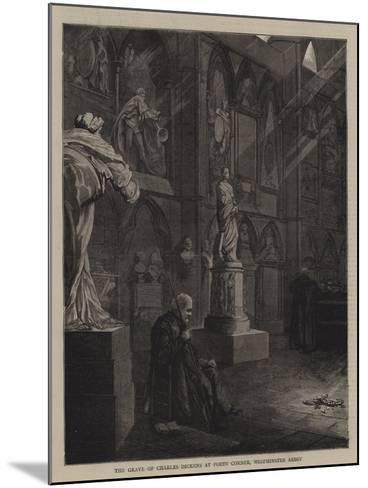 The Grave of Charles Dickens at Poets' Corner, Westminster Abbey--Mounted Giclee Print