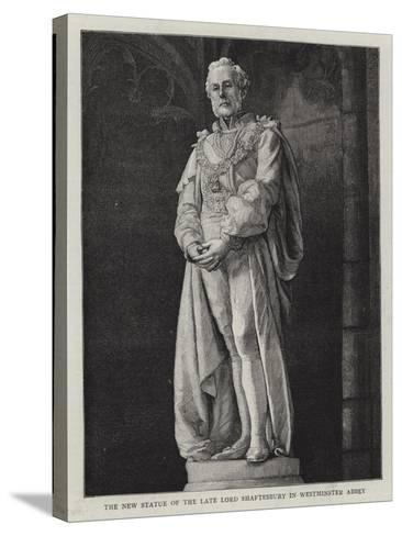 The New Statue of the Late Lord Shaftesbury in Westminster Abbey--Stretched Canvas Print