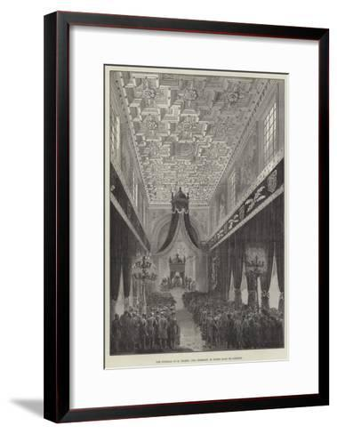 The Funeral of M Thiers, the Ceremony in Notre Dame De Lorette--Framed Art Print