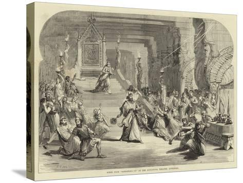 Scene from Sardanapalus at the Alexandra Theatre, Liverpool--Stretched Canvas Print