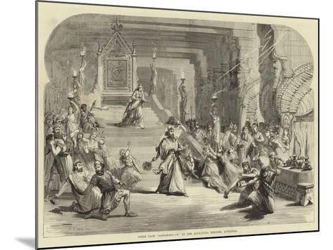 Scene from Sardanapalus at the Alexandra Theatre, Liverpool--Mounted Giclee Print