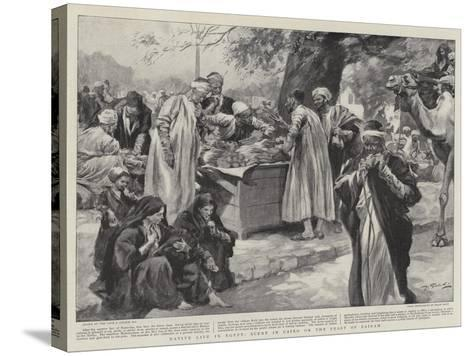 Native Life in Egypt, Scene in Cairo on the Feast of Bairam--Stretched Canvas Print
