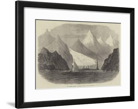 The Swedish Exploring Expedition at Green Harbour, Spitzbergen--Framed Art Print