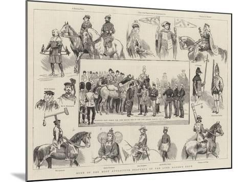Some of the Most Attractive Features of the Lord Mayor's Show--Mounted Giclee Print