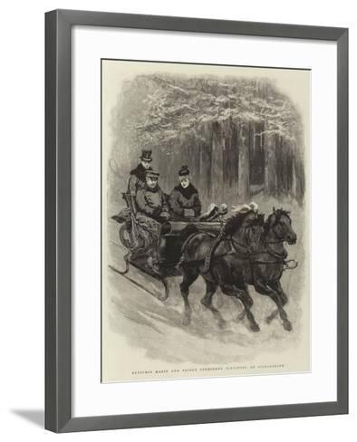 Princess Marie and Prince Ferdinand Sleighing at Sigmaringen--Framed Art Print