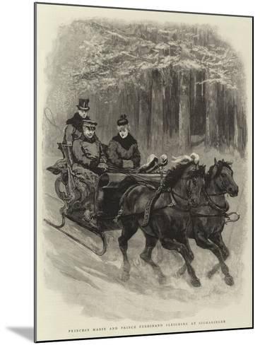 Princess Marie and Prince Ferdinand Sleighing at Sigmaringen--Mounted Giclee Print