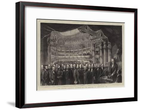 The French National Assembly in the Theatre at Versailles, 1873--Framed Art Print