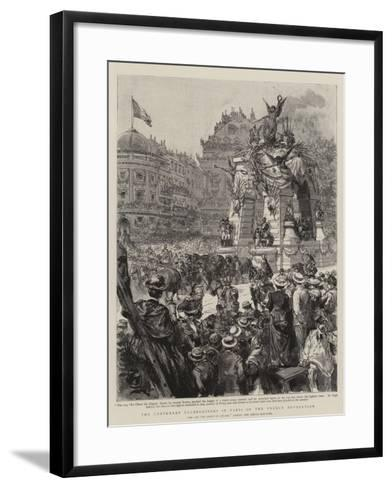 The Centenary Celebrations in Paris of the French Revolution--Framed Art Print
