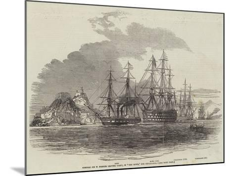 Admiral Sir W Parker Leaving Corfu, in The Howe, for Cephalonia--Mounted Giclee Print