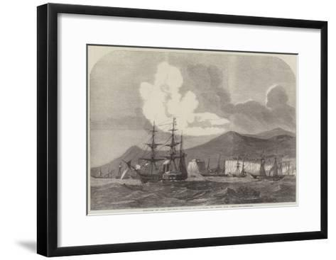 Arrival of the Gun-Boat Flotilla at Madeira, En Route for China--Framed Art Print