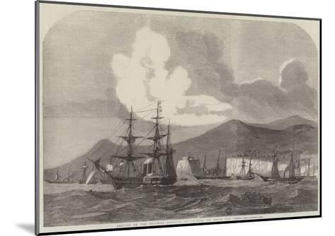 Arrival of the Gun-Boat Flotilla at Madeira, En Route for China--Mounted Giclee Print