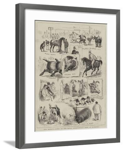 Our Artist's Notes at the Royal Agricultural Show at Liverpool--Framed Art Print