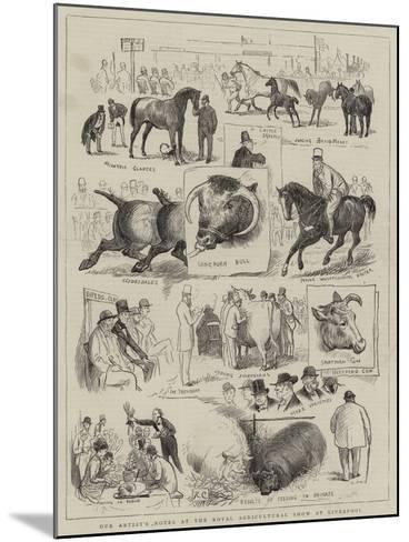 Our Artist's Notes at the Royal Agricultural Show at Liverpool--Mounted Giclee Print