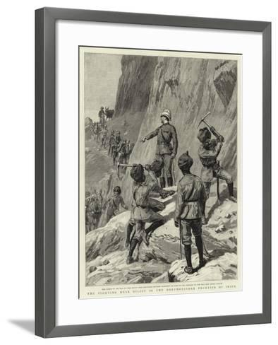 The Fighting Near Gilgit on the North-Western Frontier of India--Framed Art Print