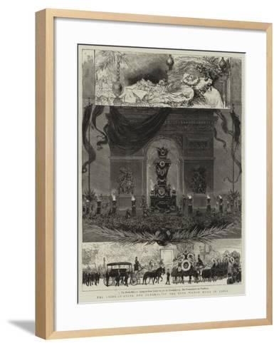 The Lying-In-State and Funeral of the Late Victor Hugo in Paris--Framed Art Print