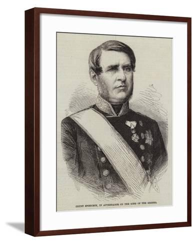 Count Sponneck, in Attendance on the King of the Greeks--Framed Art Print