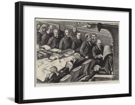 The Opening of Parliament, Shaking Hands with the Speaker--Framed Art Print