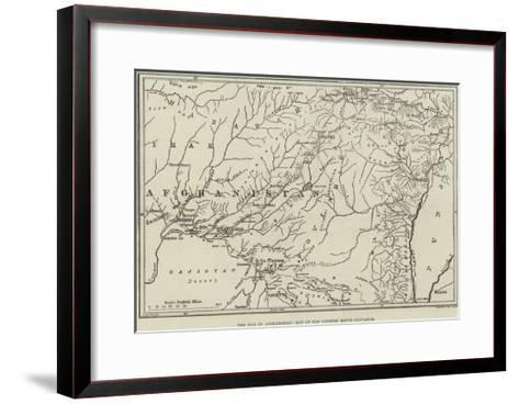 The War in Afghanistan, Map of the Country Round Candahar--Framed Art Print