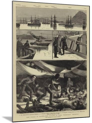The Crisis in Egypt, the Voyage of HMS Troopship Orontes--Mounted Giclee Print