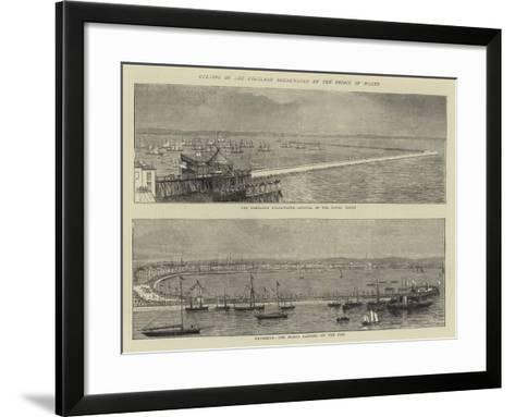 Opening of the Portland Breakwater by the Prince of Wales--Framed Art Print