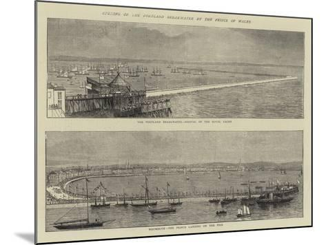 Opening of the Portland Breakwater by the Prince of Wales--Mounted Giclee Print