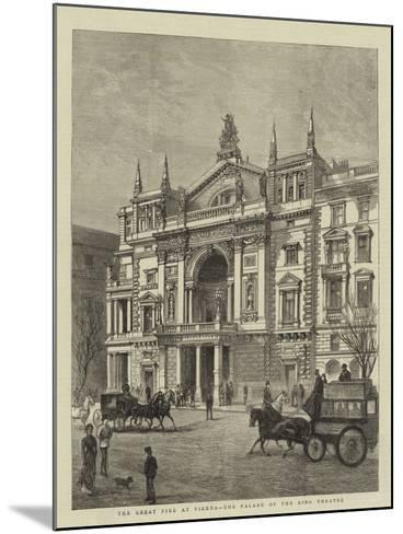 The Great Fire at Vienna, the Facade of the Ring Theatre--Mounted Giclee Print