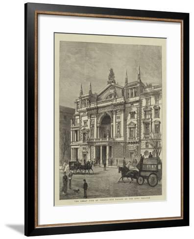 The Great Fire at Vienna, the Facade of the Ring Theatre--Framed Art Print