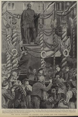 The Royal Wedding at Coburg, the Queen and the Coburgers--Stretched Canvas Print