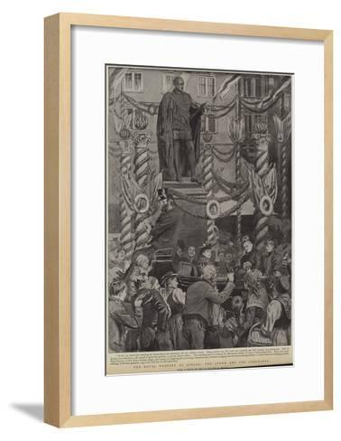 The Royal Wedding at Coburg, the Queen and the Coburgers--Framed Art Print