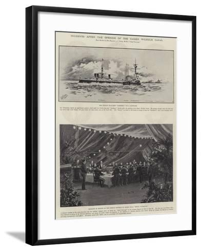 Incidents after the Opening of the Kaiser Wilhelm Canal--Framed Art Print