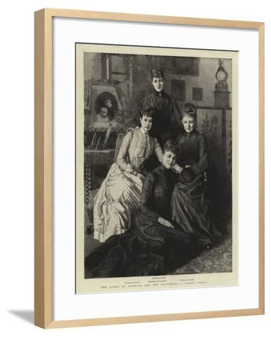 The Queen of Denmark and Her Daughters, a Family Group--Framed Art Print