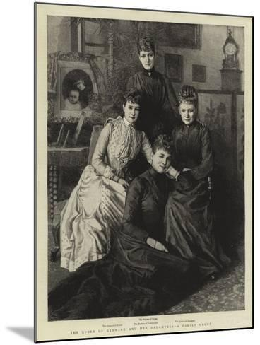 The Queen of Denmark and Her Daughters, a Family Group--Mounted Giclee Print