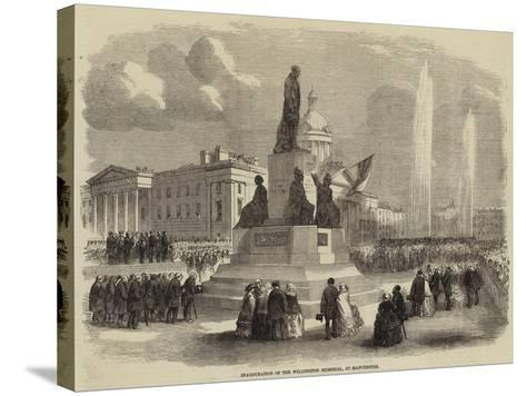 Inauguration of the Wellington Memorial, at Manchester--Stretched Canvas Print