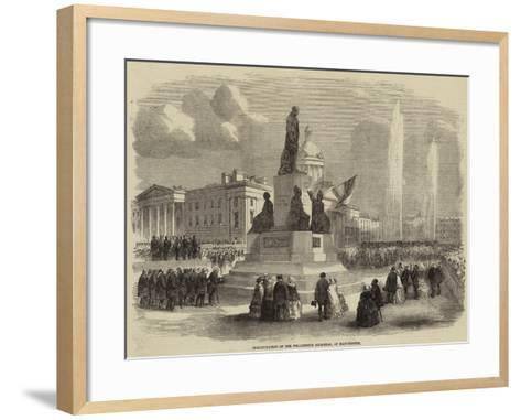 Inauguration of the Wellington Memorial, at Manchester--Framed Art Print