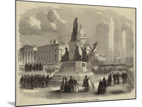 Inauguration of the Wellington Memorial, at Manchester--Mounted Giclee Print