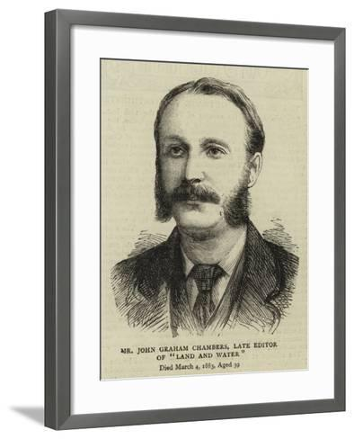 Mr John Graham Chambers, Late Editor of Land and Water--Framed Art Print