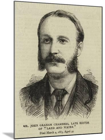 Mr John Graham Chambers, Late Editor of Land and Water--Mounted Giclee Print