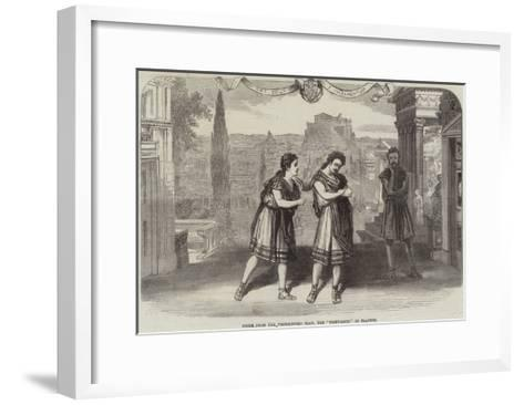 Scene from the Westminster Play, the Trinummus of Plautus--Framed Art Print