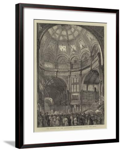The Opening of the Alexandra Palace, View under the Dome--Framed Art Print