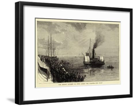 The Recent Attempt to Swim across the Channel, the Start--Framed Art Print
