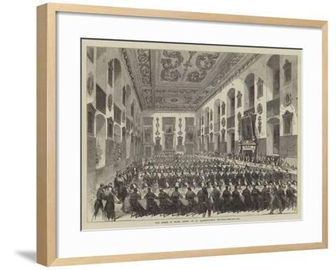 The Prince of Wales Dining at St Bartholomew's Hospital--Framed Art Print