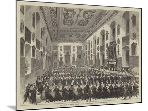 The Prince of Wales Dining at St Bartholomew's Hospital--Mounted Giclee Print