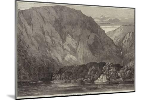 HMS Nassau Going into Playa Parda Cove, Strait of Magellan--Mounted Giclee Print