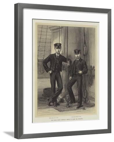 Our Young Sailor Princes, a Sketch on Board the Britannia--Framed Art Print