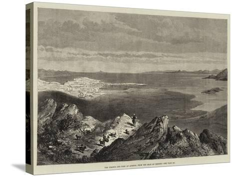 The Piraeus and Port of Athens, from the Seat of Xerxes--Stretched Canvas Print