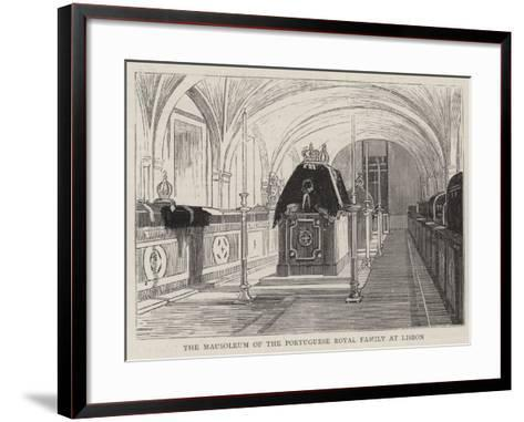 The Mausoleum of the Portuguese Royal Family at Lisbon--Framed Art Print