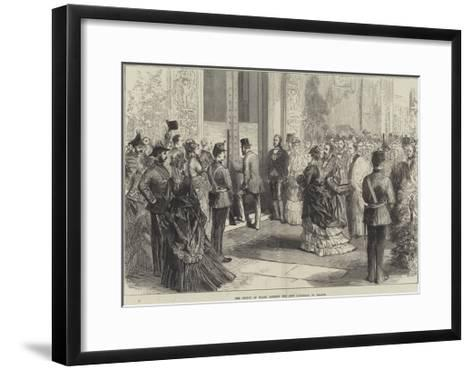 The Prince of Wales Opening the New Townhall at Bolton--Framed Art Print