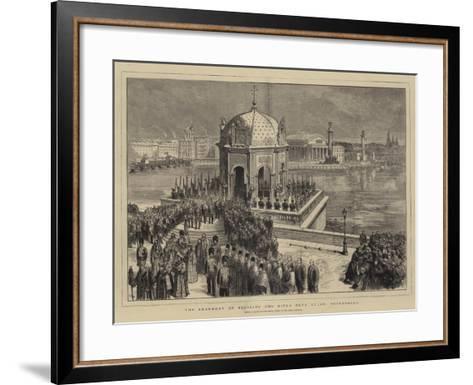 The Ceremony of Blessing the River Neva at St Petersburg--Framed Art Print