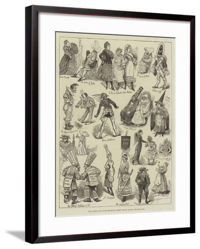 Fancy Dress Ball at the Brookwood Surrey Lunatic Asylum--Framed Art Print